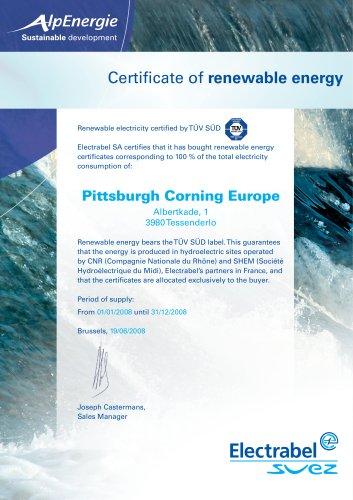 Green Energy Certificat