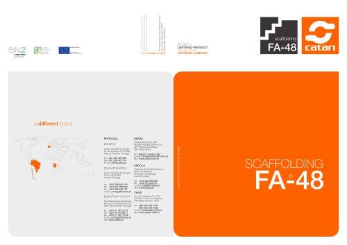 SCAFFOLDING FA-48 - CATARI - PDF Catalogs | Documentation