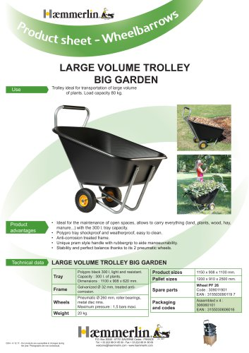 LARGE VOLUME TROLLEY  BIG GARDEN