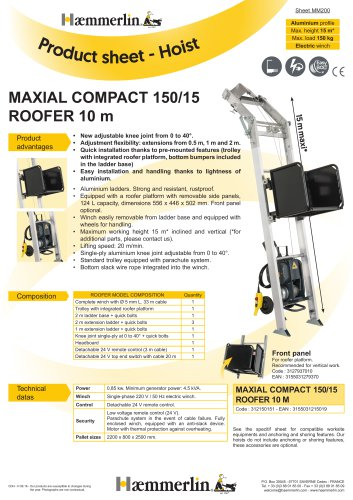 MAXIAL COMPACT 150/15 ROOFER 10 m