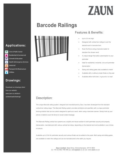 Barcode Railings