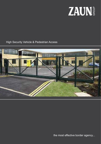 High security vehicle pedestrian access