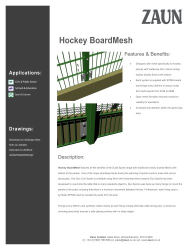 Hockey BoardMesh