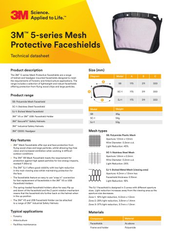 3M™ 5-series Mesh Protective Faceshields