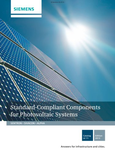 Catalog LV 11 - 2013 - Standard-Compliant Components for Photovoltaic Systems