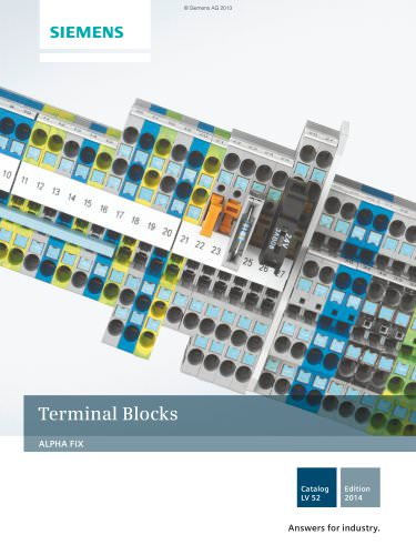 Catalog LV 52 - 2014 - ALPHA FIX Terminal Blocks