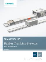 Catalog LV 70 - 2014 - SIVACON 8PS Busbar Trunking Systems