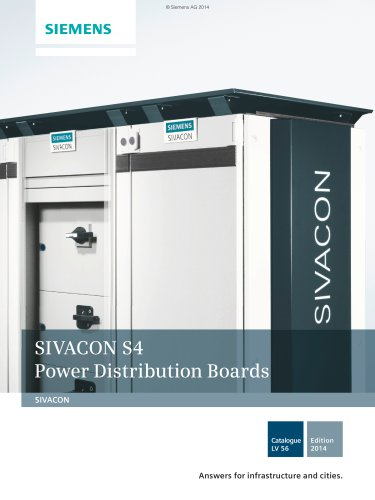 Catalogue LV 56 - 2014 - SIVACON S4 Power Distribution Boards