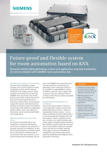Future-proof-and-flexible system for room automation based on KNX