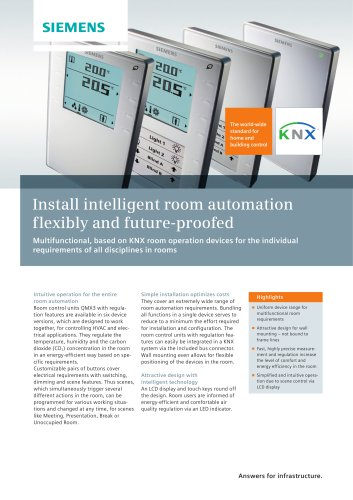 Install-intelligent room automation flexibly and future proofed
