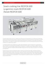 Snack cooking line REDFOX 600