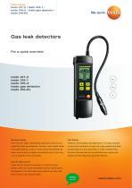 Gas leak detectors