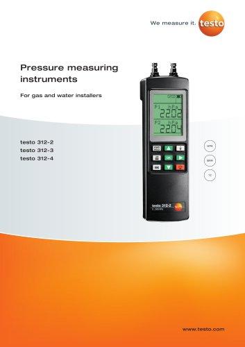 Pressure measuring instruments