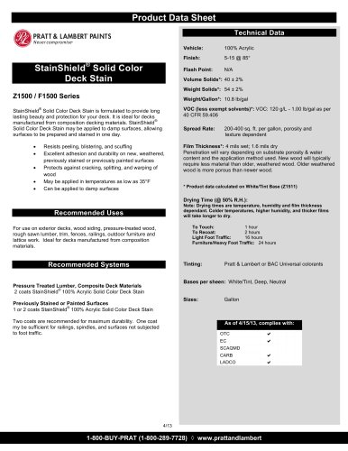 StainShield® Solid Color Deck Stain