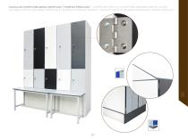 LOCKERS WITH BODY IN HYDROPHOBIC MELAMINE AND HPL DOORS / - 6