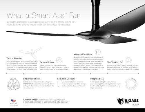 Haiku with SenseME smart ceiling fan