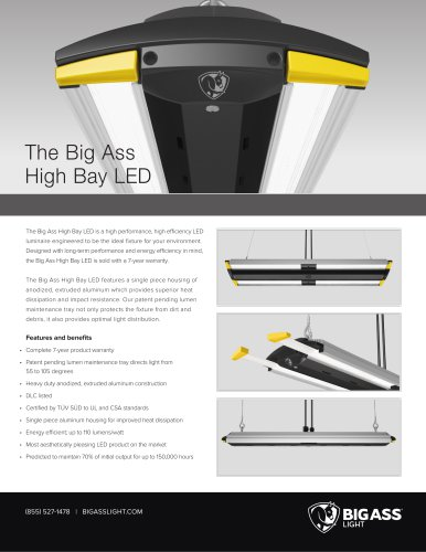 High Bay LED Specifications