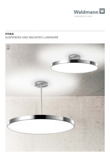 SUSPENDED AND MOUNTED LUMINAIRE VIVAA