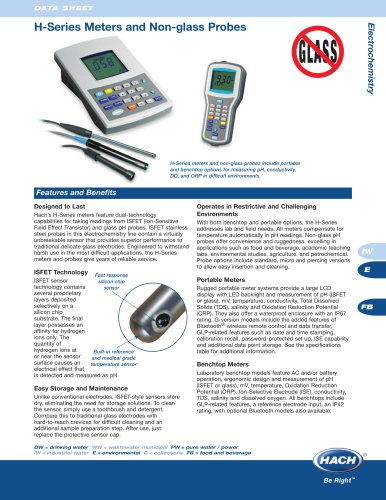 H-Series Meters and Non-Glass Probes