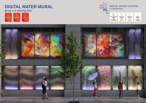 Digital Water Curtain and Mural