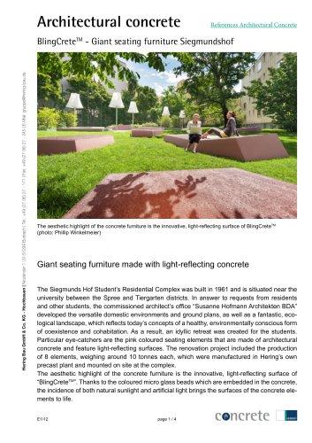 BlingCrete? - Giant seating furniture