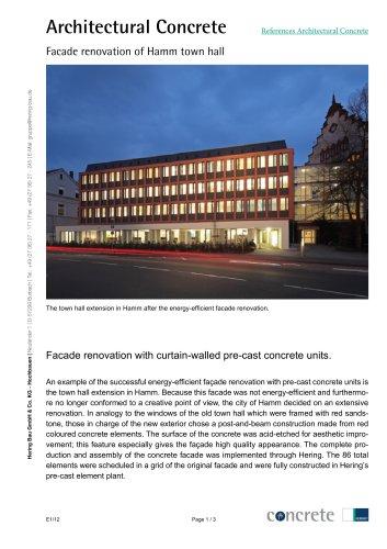 Façade renovation of Hamm town hall