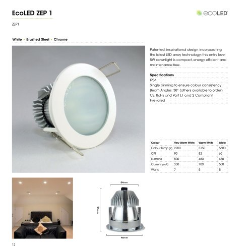 outlet store sale 7f51b e21a0 ECOLED® ZEP1 Fire-Rated LED Downlight - Ecoled - PDF ...