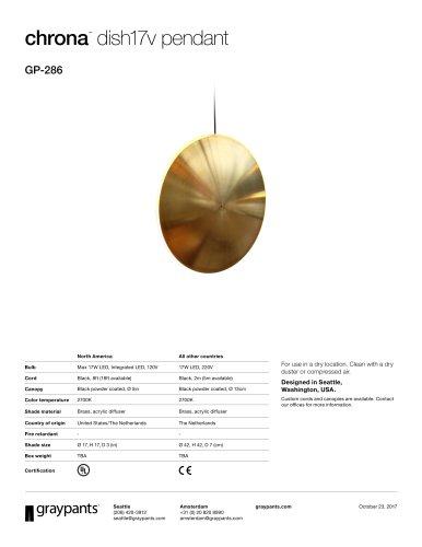 Chrona™ Dish17v Pendant