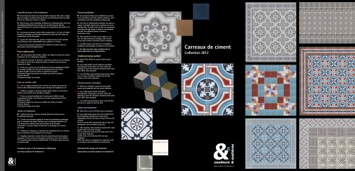 Carreaux de ciment  Collection 2012