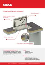 Product sheet TopAccess roof hatch