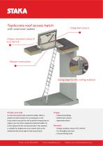 Product sheet TopAccess roof hatch with ladder