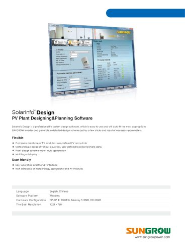 SolarInfo Design - Sungrow Power Supply - PDF Catalogs