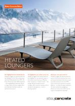 Lounger with heating
