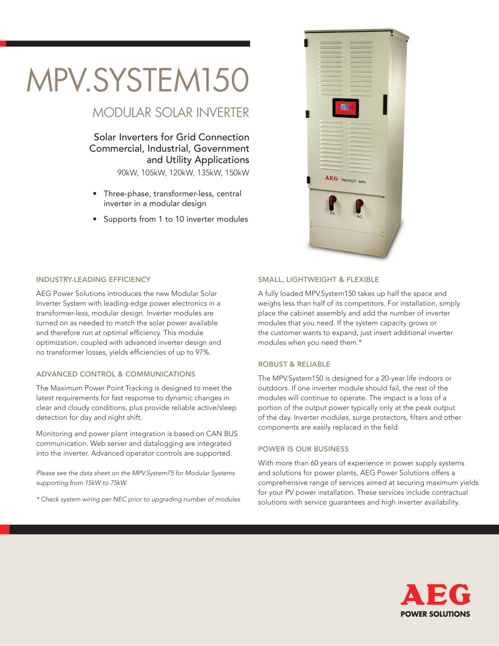Mpvsystem150 English Aeg Power Solutions Pdf Catalogues Modular Wiring 1 2 Pages