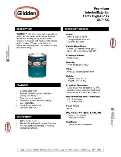 Premium Interior/Exterior Latex High-Gloss