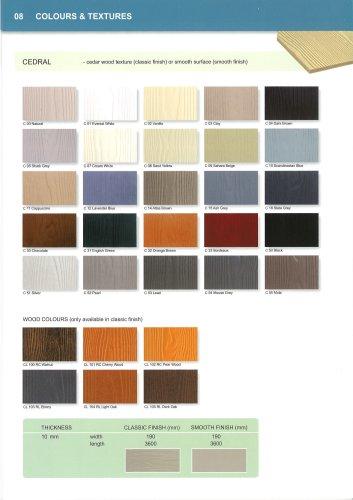 Colour chart Cedral 2012