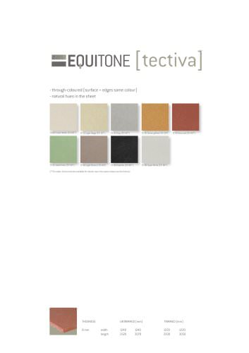 the new colour chart Tectiva 2013
