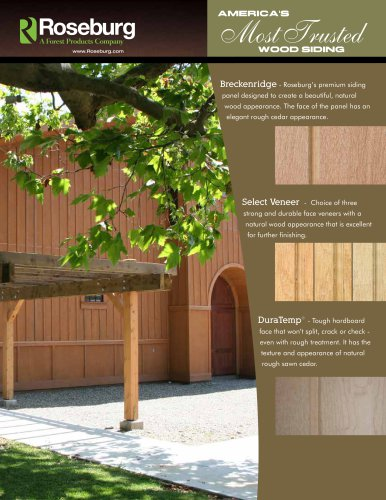 Real Wood Siding Roseburg Pdf Catalogs Documentation Brochures