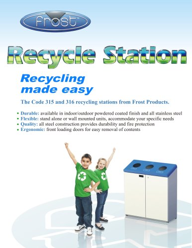 RECYCLING STATION ? FLOOR STANDING