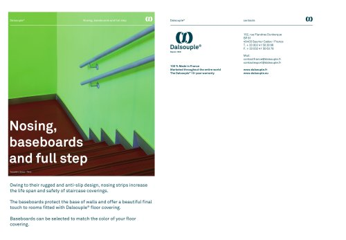 NOSING, BASEBOARD AND FULL STEP