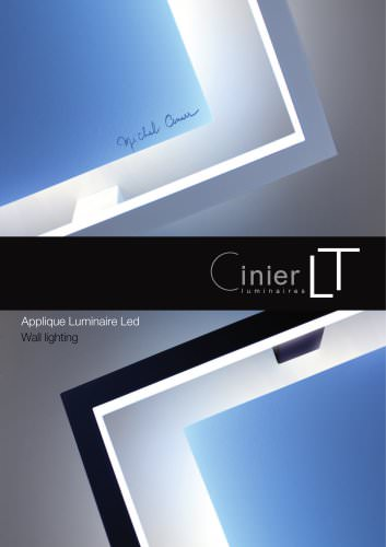 CINIER luminaires collection LT