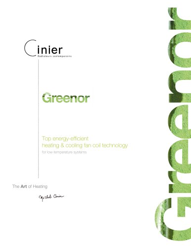 Greenor.  Energy-efficient heating & cooling fan-coils.