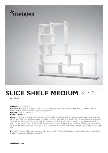 Slice Shelf KB 2 info