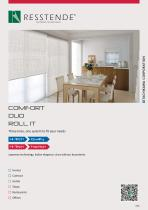 Comfort, Duo, Roll it_three lines, one system to fit your needs