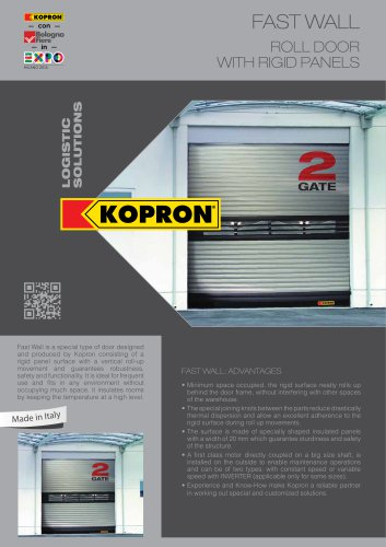 fast WALL ROLL DOOR WITH RIGID PANELS