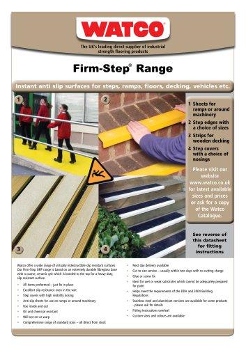 Firm-Step®  Range