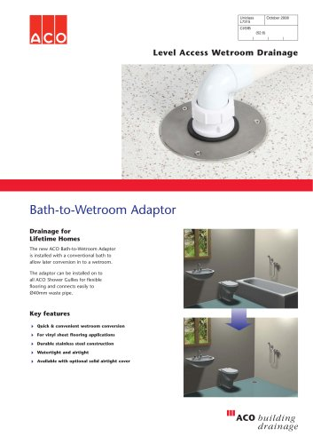 Bath-to-Wetroom Adaptor
