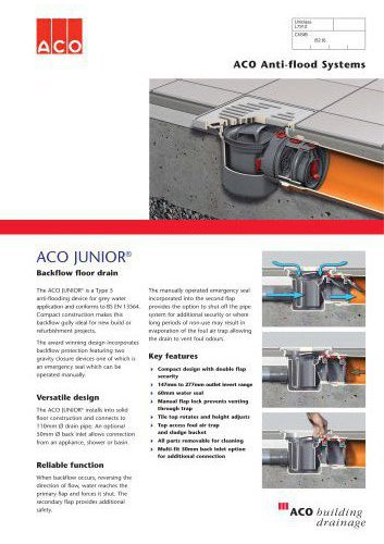Junior Anti-flood Backflow Protection System