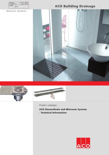 ShowerDrain Technical and Wetroom systems