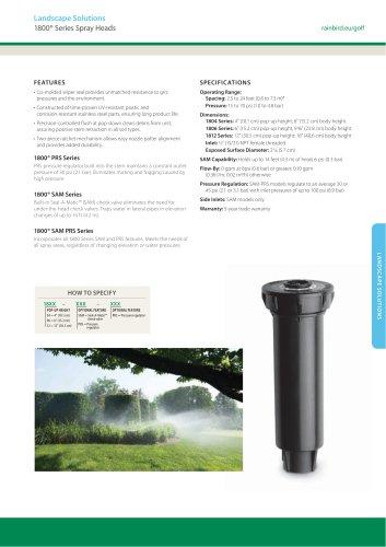 1800® Series Spray Heads